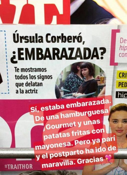 La actriz ha compartido la portada de la revista con una significativa respuesta en los 'stories' de su Instagram