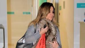María José Campanario a la salida del hospital hace un mes