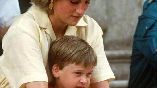 La princesa Diana y un Guillermo muy pequeño en unas vacaciones en Palma de Mallorca
