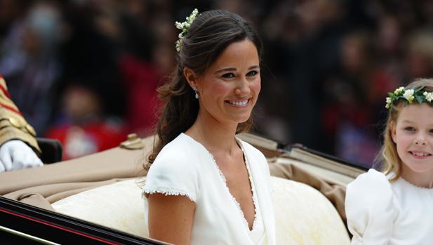 Ppippa Middleton el día de la boda de su hermana mayor, la Duquesa de Cambridge