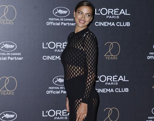 Irina en la alfombra roja del festival de Cannes