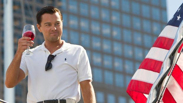 Leonardo DiCaprio en su interpretación en «El lobo de Wall Street»