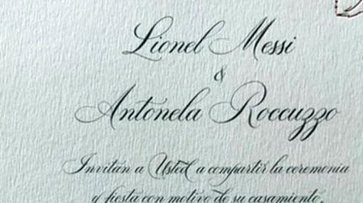 La invitación reveló que se escribe «Antonela»