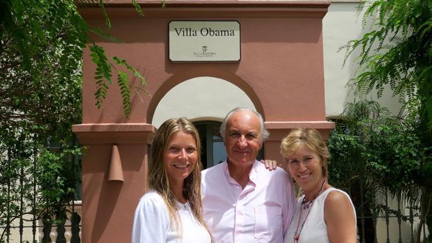 En el hotel Villa Padierna (Marbella) se alojó en la Villa Obama, la misma que ocupó Michelle Obama en 2010