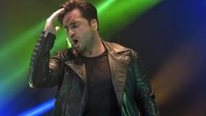 David Bustamante, en uno de sus conciertos