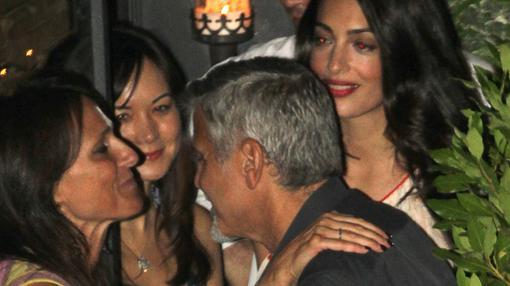 George y Amal Clooney en Gatto Nero