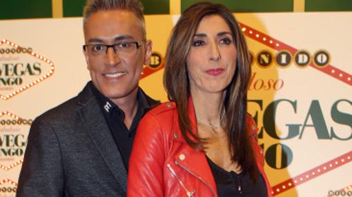 Paz Padilla y Kiko Hernández durante un acto en El Bingo Las Vegas de Madrid