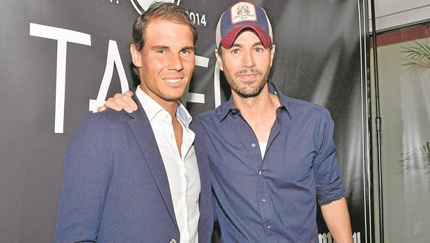 Enrique Iglesias y Rafa Nadal, el pasado mes de marzo, en la inauguración de Tatel Miami