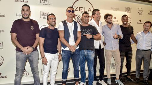 Cristiano Ronaldo, en la fiesta de Zela