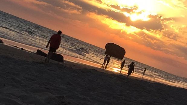 Atardecer en la playa de Matalascañas (Huelva)