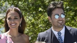 Paula Echevarría y David Bustamante durante la comunión de Daniella