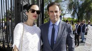 Carolina Herrera Jr. y Miguel Báez, el pasado mes de mayo, en Sevilla