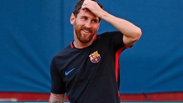 El jugador en una foto que publicó en sus redes sociales