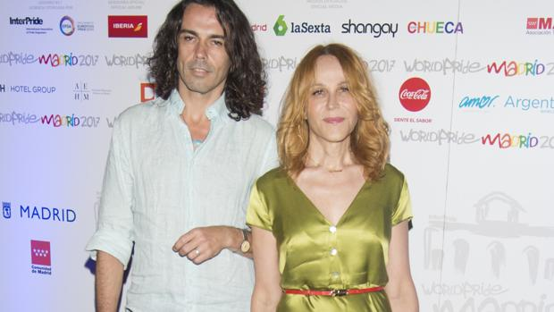 La pareja durante los premios World Pride 2017 Madrid