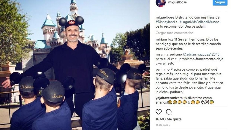 Miguel Bosé denuncia una extorsión de 51.000 euros por unas fotos con sus hijos
