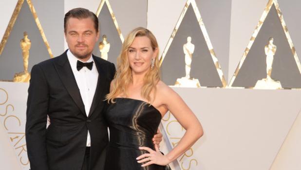 Los actores durante la gala de los Oscar en 2016