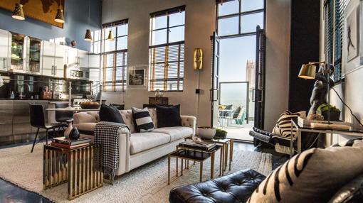 Decoración bohemia y colorida de los apartamentos