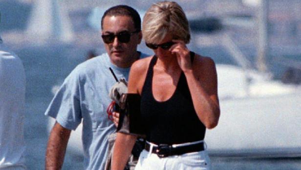 Diana y Dodi Al Fayed, en Saint Tropez