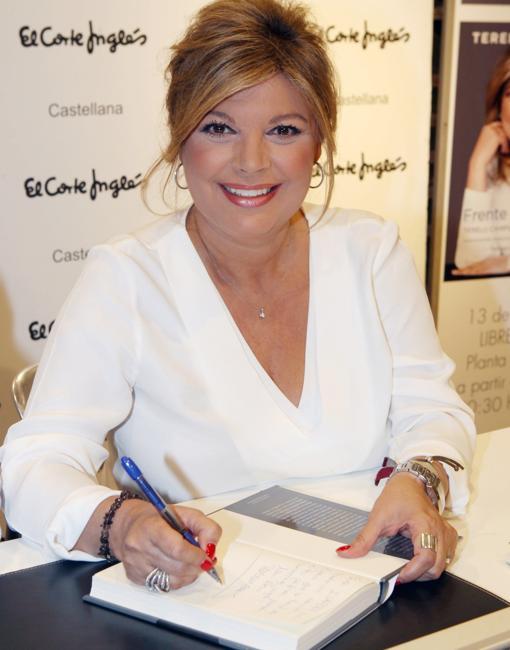 Terelu Campos durante la presentación de su nuevo libro