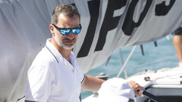 Foto de archivo del Rey este verano durante la Copa del Rey de vela en Palma de Mallorca