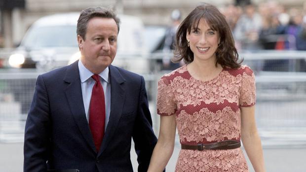 David Cameron, con su esposa Samantha