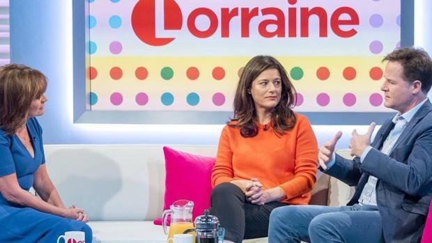 Nick Clegg y Miriam González en una entrevista muy sincera para el programa «Lorraine»