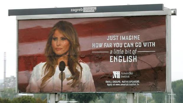 El cartel que ha ordenado retirar Melania Trump