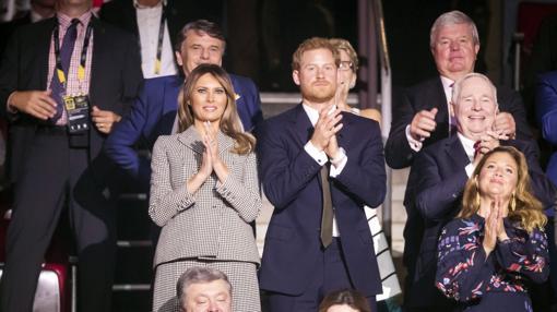 El Príncipe Harry, Melania Trump y Justin Trudeau en los Juegos Invictus