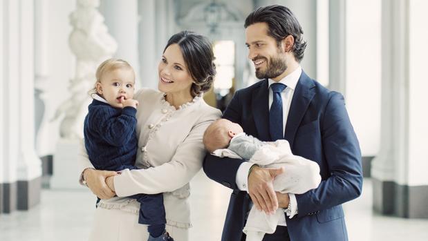 Retrato familiar en Palacio Real de Estocolmo