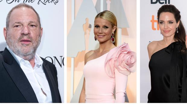 Gwyneth Paltrow, Angelina Jolie y Harvey Weinstein
