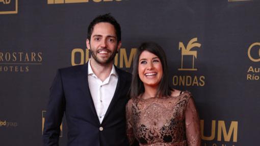 Teixidó y Guapo, durante la 62 edición los Premios Ondas 2015 en Barcelona. GTRES