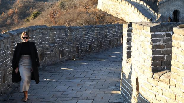 Melania Trump visita la Gran Muralla China