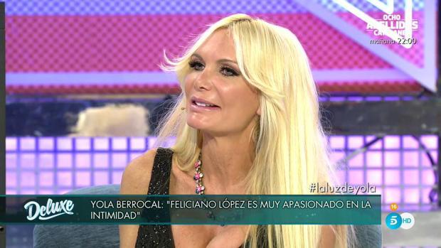 Yola Berrocal, en «Sábado Deluxe»