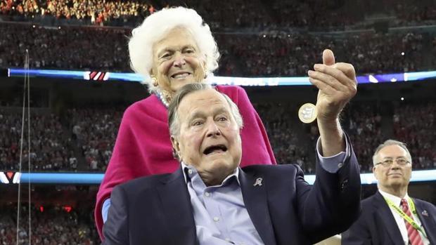 George Bush padre, en una imagen de febrero de este año
