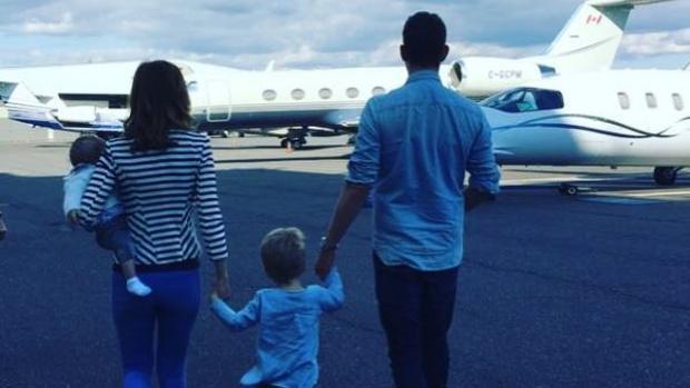 Michael Bublé junto a su familia