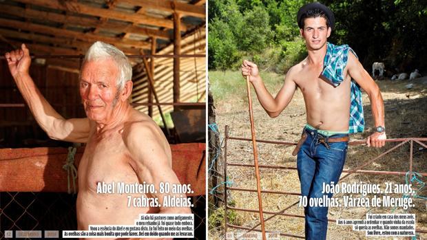 Fotografías facilitadas por los creadores del calendario «Los más bellos pastores de la Sierra de Estrela»