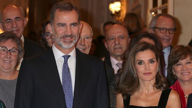 Los Reyes en la entrega del premio de periodismo Francisco Cerecedo