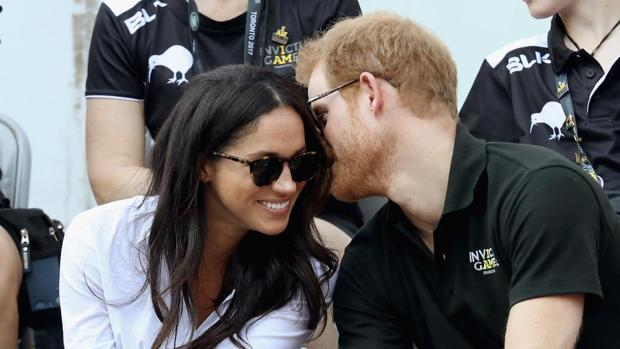 Meghan y Harry, en una de las pocas imágenes que hay de ellos juntos