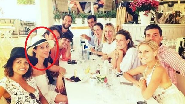 Meghan Markle en uno de sus viajes por Ibiza