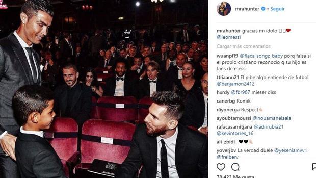 El Instagram de Cristiano Ronaldo Jr