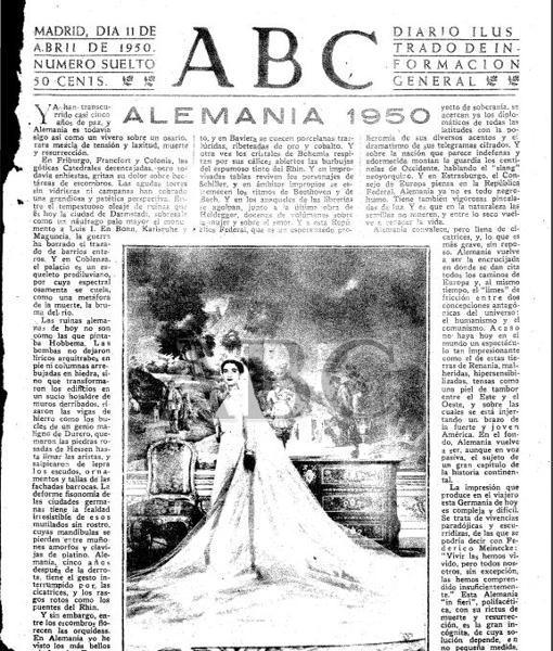 Imagen de Carmen Franco vestida de novia en el periódico