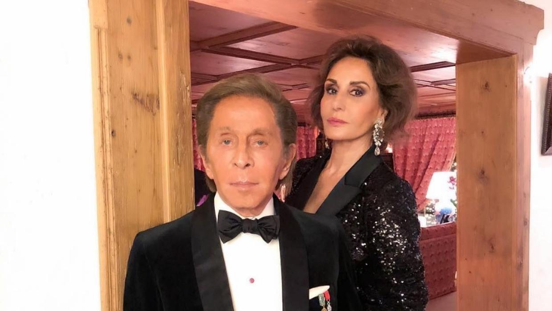 Naty Abascal pasa la noche de fin de año en la casa de Valentino en Gstaad