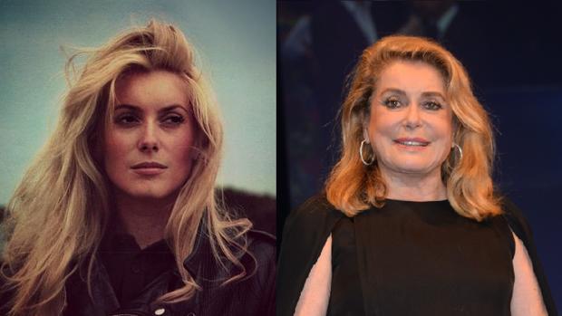 Catherine Deneuve, antes y ahora