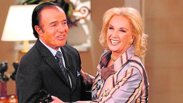 Arrina, Mirtha en 2003 con el exmandatario argentino Carlos Menem
