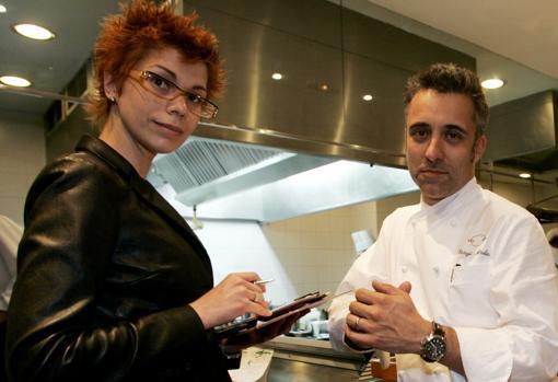 El chef junto a su exmujer en 2005