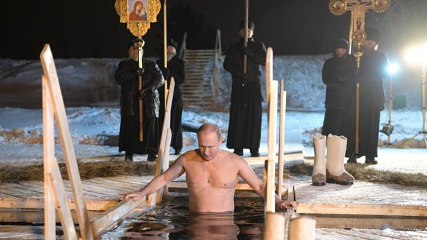 Putin en las frías aguas