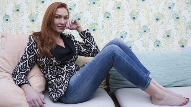 Silvia Fominaya posa para ABC durante la entrevista