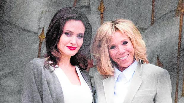 Angelina Jolie Y Brigitte Macron