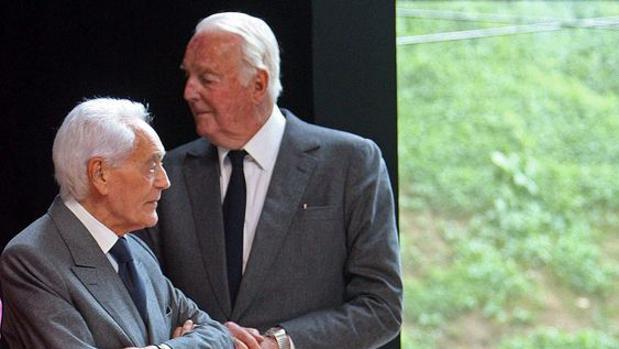Philippe Venet y Hubert de Givenchy