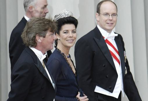 La princesa Carolina en la boda de Federico de Dinamarca